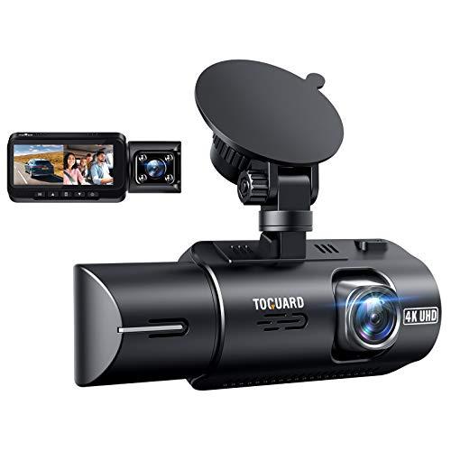 TOGUARD Dashcam 4K GPS Akku Dual Lens 2160P +1080P Auto Kamera Vorne Hinten, 24/7 Parküberwachung, Infrarot-Cut Nachtsicht Car Camera, 3.2 Zoll 320° Dash Cam G Sensor 256GB Unterstützt