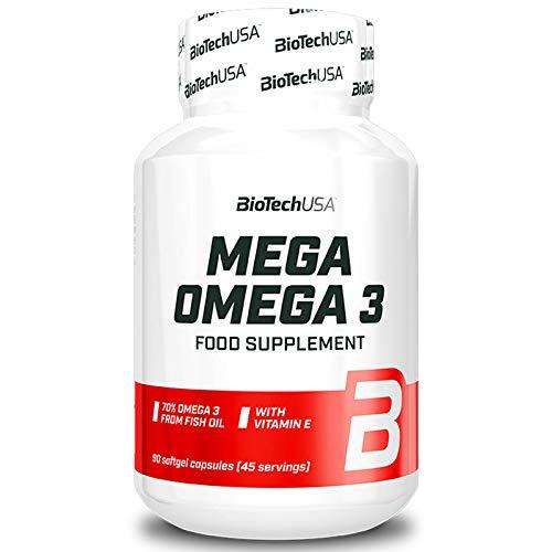 BioTech USA Omega 3Capsule Integratore Alimentare Olio di Pesce Capsule 90pezzi