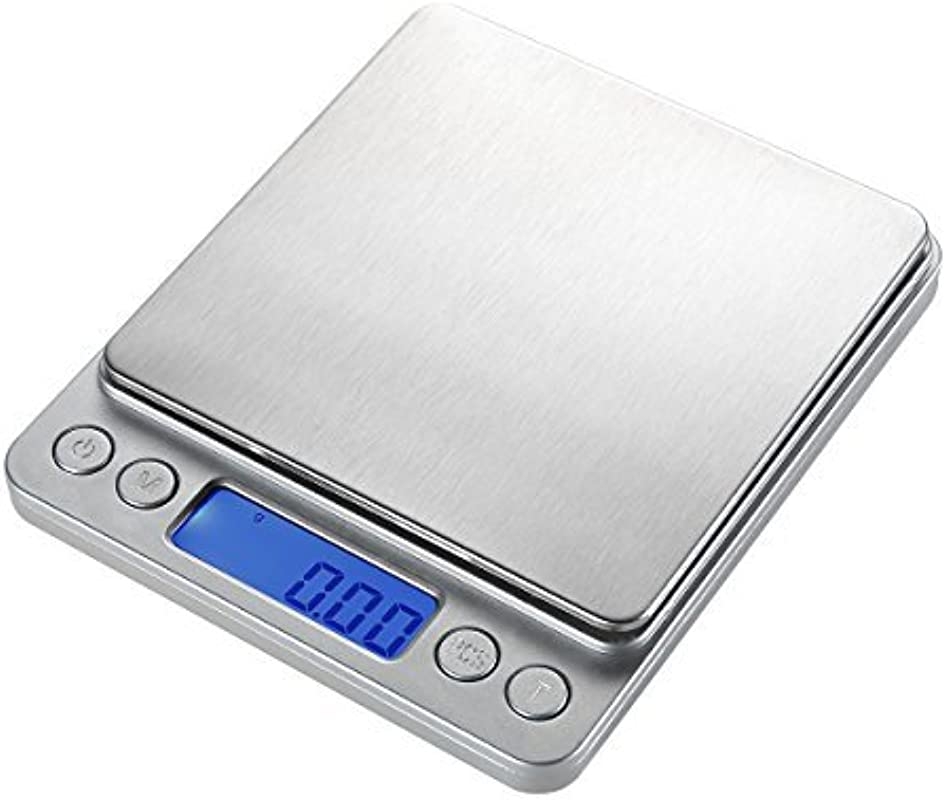 WAOAW 500g 0 01g Digital Pocket Stainless Jewelry Kitchen Food Scale Lab Weight 0 001oz Resolution