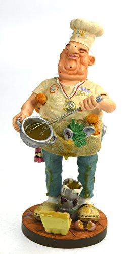 Unbekannt Original Parastone aus der Serie Profisti Künstlerfigur Koch Chef, handbemalt