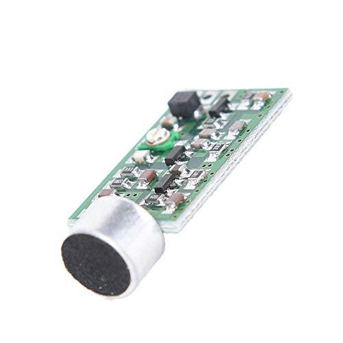 Loriver Transmisor FM Micrófono inalámbrico Vigilancia Frecuencia 88-108MHz Módulo Superior Mic Core Tablero V4.0 DC 0.7-9V Inalámbrico