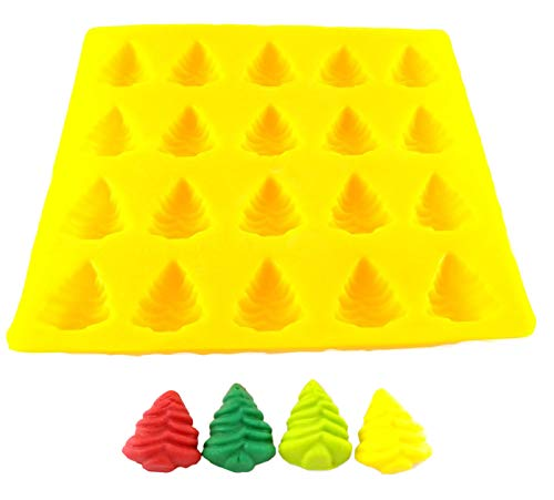 Flexible Molds - Pine Tree Christmas Tree (20 cavity) - Cream Cheese Mint Molds - Candy Melts - Fondant - Caramels - Soft Candy Molds
