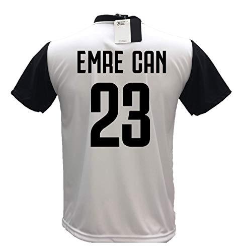 Camiseta de fútbol Juventus Emre Can 23, réplica autorizada 2018-2019, para niño (tallas 2, 4, 6, 8, 10, 12), adulto (S, M, L, XL) (2 años)
