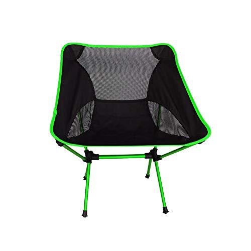 WPF ZTT Silla de Camping portátil, sillas de Playa Plegable Ultraligero con Mochilas, for Actividades al Aire Libre Que acampa Los días de Campo travesías y los Viajes (Color : Green)