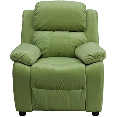 Flash Furniture Avocado Microfiber Kids Recliner