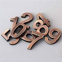家屋番号 販売1PC 0-9数近代プラーク数ハウスホテルのドア住所桁ステッカープレートサイン プラーク (Color : Bronze, Size : 2)