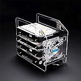 Hard Disk Bracket Test Bench Case DIY Enclosure Set Tool Hard Drive 3.5inch HDD 4/6/10 Layers (4 Layers Hard Disk Bracket, Transparent)