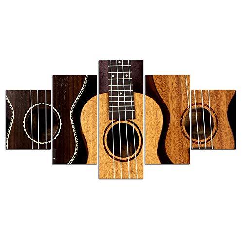 rkmaster-modulaire pictures5paneel gitaar akkoorden canvas schilderij wandschilderijen woonkamer decoratie schilderij