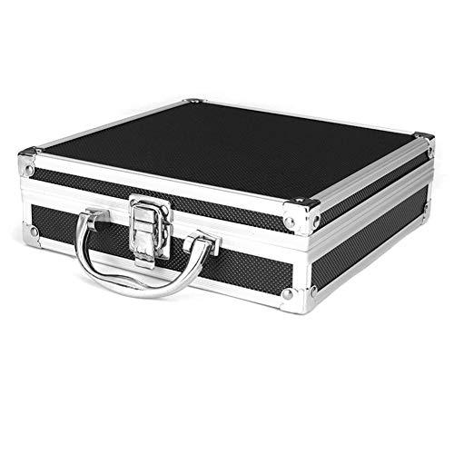 Fanville Caja de herramientas portátil de aluminio, organizador de herramientas, soporte de herramientas de viaje, multiusos, portátil