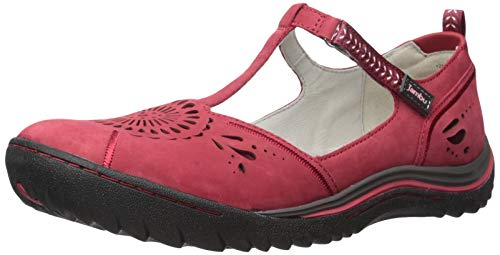 Jambu Women's Sunkist Mary Jane Flat, red/Petal, 9 M US