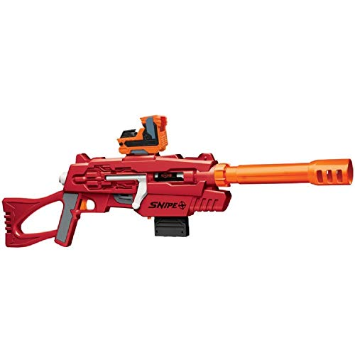 Air Warriors Red Snipe Dart Blaster, Battery Operated, Lights Up, 6+
