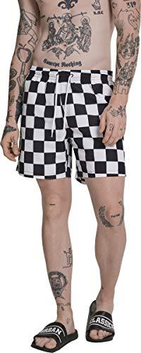 Urban Classics Check Swim Shorts, Pantalones Cortos para Hombre, Multicolor (Chess 01683), XXX-Large