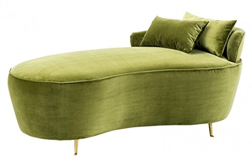 Casa Padrino Belle Epoche Sofa/Recamiere Grün - Jugendstil Art Deco - Luxury Collection