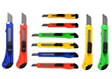 eZthings 10 Heavy Duty Box Cutters Openers Utility Knives with Snap Off Blades (Variety Knife Set)