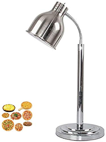 Lámpara de Mesa Estilo Tradicional Antiguo-Acero Inoxidable a Base -E27 / 250W-Food Calentador de calefacción - Mesa de Comedor, Mesa de Centro-Alimentos, usada para Mantener la Temperatura de Plata