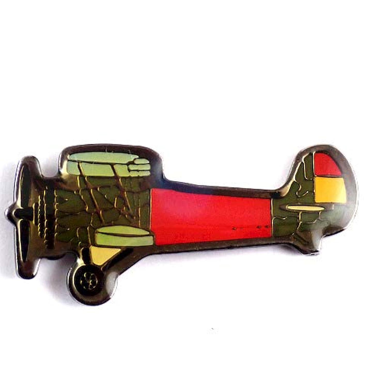 鼻銅眠り限定 レア ピンバッジ プロペラ飛行機ミリタリー戦闘機 ピンズ フランス 288642