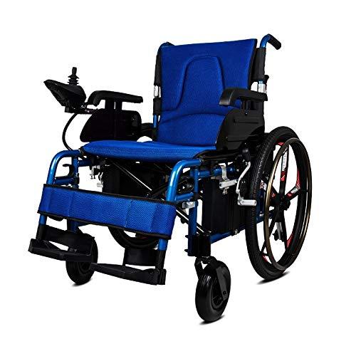 YIONGA CAIJINJIN eléctrica Silla de Ruedas Filipinas Precio Power Motor Remoto Reclinable RECLINIZADO Silla de Ruedas (Color : Blue)