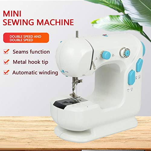 Review Of Mini Electric Sewing Machine,Multifunction Portable Electric Crafting Dual Speed Double Th...
