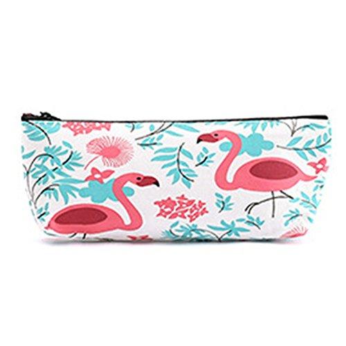jingyu 1 estuche de almacenamiento con gran capacidad caja de herramientas de lona estuche de herramientas fácil de guardar bolsa de herramientas adecuado para estudiantes y empleados de oficina, color Flamingo. 21*8.5CM