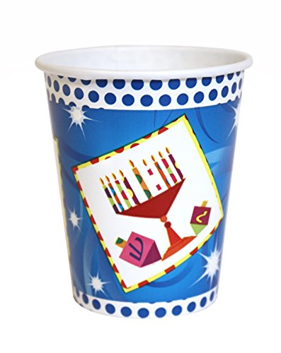 Hanukkah Party Paper Cups Menorah Design for Chanukah Party 24 Hanukkah Party Cups