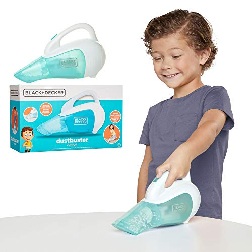 BLACK+DECKER Dustbuster Junior Toy Handheld Vacuum Cleaner with Realistic Action & Sound Pretend Role Play Toy for Kids with Whirling Beads & Batteries Included [Amazon Exclusive]