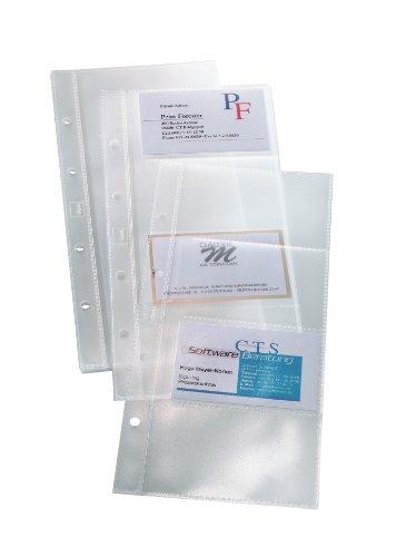 SIGEL VZ350 Hüllen für einreihige Visitenkarten-Ringbücher VZ300 und VZ204, für 80 Karten, 10 Stück