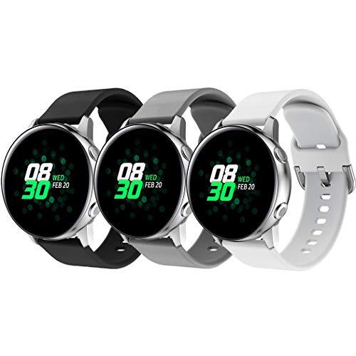 Baaletc Bracelet pour Galaxy Watch Active 40mm, Bracelet de Remplacement Libération Rapide en Silicone Mince de 20 mm pour Galaxy Watch 42 mm/Gear S2 Classi/Gear Sport/Huawei Watch 2/ Vivoactive 3
