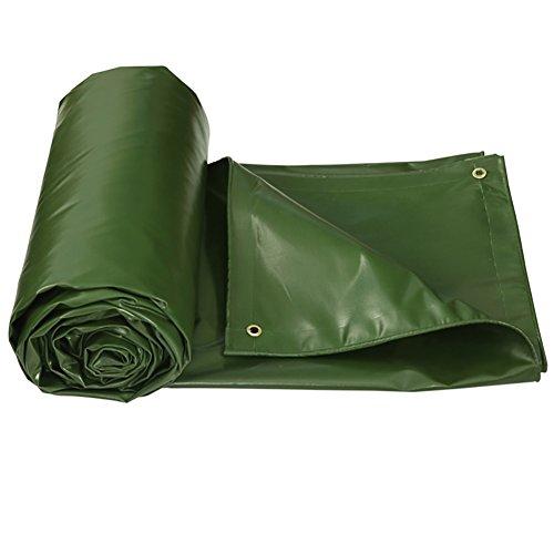 XUEYAN Bâche robuste Épaississant Épais anti-pluie Colth Double face imperméable Bâche de sol pour couvertures Tente de protection contre les déchirures Épissure de tente Auvent pare-soleil -Green, 55