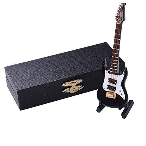 Hjuns Mini Modelo Instrumentos Musicales Colección Adornos Decorativos (Guitarra Eléctrica)