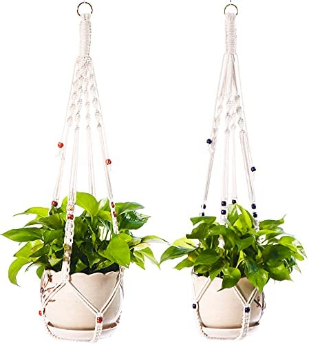 Lixinju Hanging Max 85% OFF Planters Indoor Macrame Hanger Holder Plant 40% OFF Cheap Sale Outd