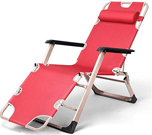TUHFG Sillón reclinable de metal plegable para el hogar, oficina, jardín, patio, playa, camping, tumbona, 1 (color: 2)