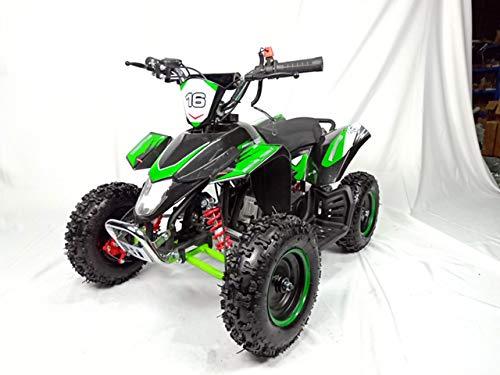 Mini quad de gasolina con motor de 49cc de 2 tiempos -ATV20 PANTERA. / Mini quad para niños de 5 a 12 años/miniquad infantil (VERDE)
