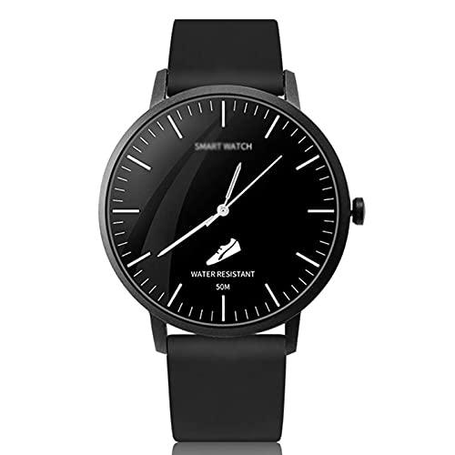 G&UWEI Smart Watch for Women Men, Reloj De Rastreador De Fitness Impermeable IP68 con Monitor De Frecuencia Cardíaca, Contador De Pasos, Monitor De Sueño, iOS De Android Compatible,Negro