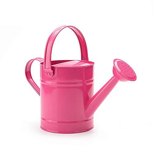 TETHYSUN Regadera de hierro, cubo de riego de jardín para niños, multicolor de metal, con tratamiento de recubrimiento en polvo antioxidante, 1,5 litros