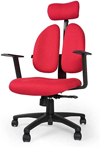 WANGXIAOYUE Sillas de Escritorio de Oficina reposabrazos de elevación Ajustable, Silla de Oficina ergonómica de la Oficina Superior de la computadora Silla de Rodillas (Color : Red)