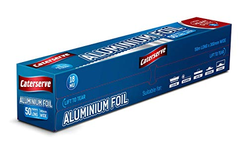 Caterserve Super Premium Heavy Duty 18 Micron High Quality Food Service Catering Aluminium Foil Roll 30cm x 50 metres