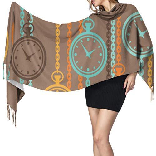 Yushg Inicio Ideas de moda Accesorios Reloj Bufanda para mujer Bufanda de cachemir suave y liviana para mujer Abrigo de chal grande 77x27 pulgadas / 196x68cm Pashmina grande y suave