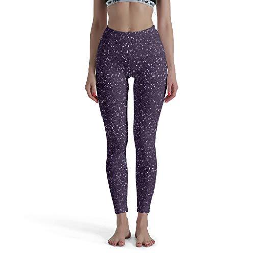OwlOwlfan Knielange Leggings Dames ruimte Galaxie Workout High Waist Enkelange Ondoorzichtige tights Sportbroek lang