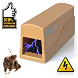 SereneLife PSLEMK5 Powered Rat Bait Zap w/Metal Plates, LED Light Electronic Humane Mouse Trap Zapper-Indoor Safe Electric and Battery