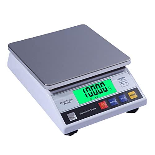 WZ 10kg/1g 1kg/0.01g Balanza Análitica Laboratorio Científica Electrónica Báscula Digital Alta Precisión Lab Joyería con Función Conteo Y Tara (Size : 1kg/0.01g)