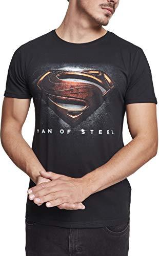 MERCHCODE Mos Superman Tee, T-Shirt Men's, Black, S