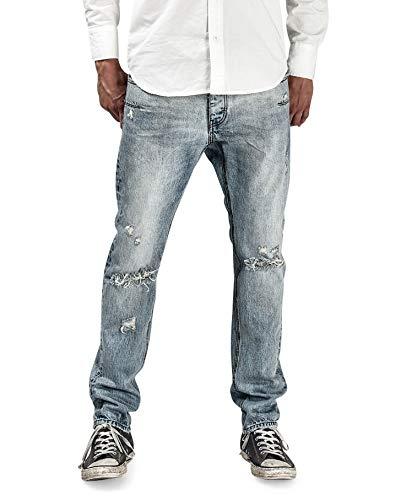 Een theelepel Mens Mr Whites 19221D Jeans Rechte Zoute Hond Blauw