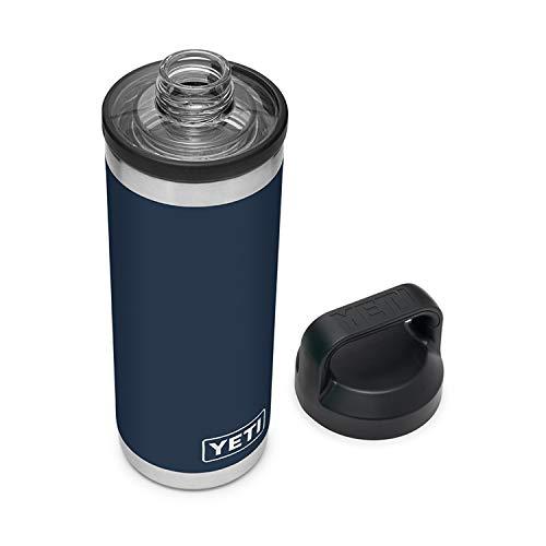 YETI Rambler 18 oz Bottle, Vacuum Insulated, Stainless Steel with Chug Cap, Navy