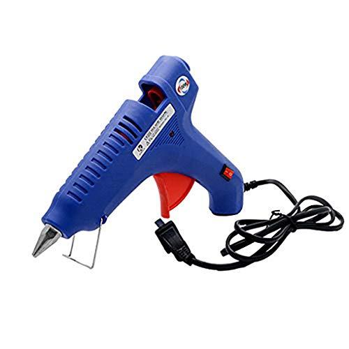 Maso Hot Melt Glue Gun - Pistola de pegamento caliente con 100 barras de pegamento rápido de hierro fundido y desmontable, juego de funda para pistolas de pegamento