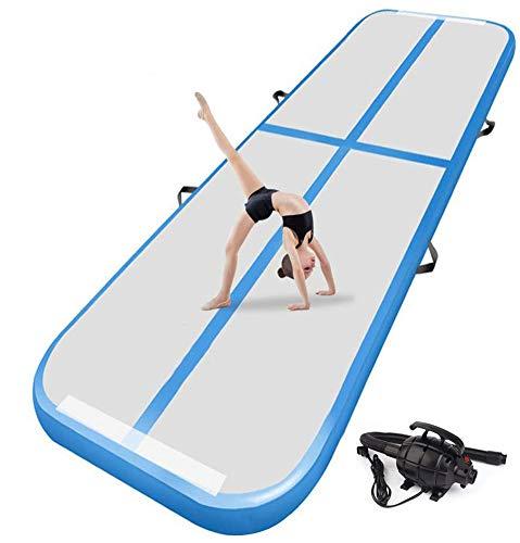 XLH 2M-6M Inflatable Gymnastikmatte Air Track Tumbling-Matte mit Pumpe Luftboden Praxis Gymnastik Cheer Tumbling Kampfsport für den Heimgebrauch, Strand, Park und Wasser,2 * 1 * 0.1