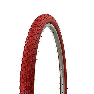 Fenix Cycles Wanda Bicycle Tire 24 x 1.75, COMP3 BMX Tread, (Red)