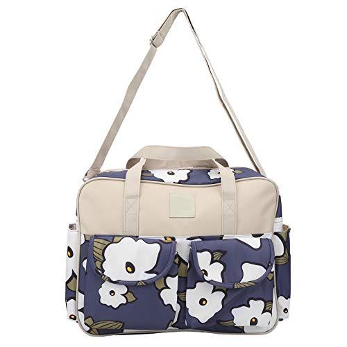 Bolso de hombro para mamá, bolso multifuncional para pañales portátil impermeable elegante organizador de bolsos de hombro con cambiador y correa para el hombro