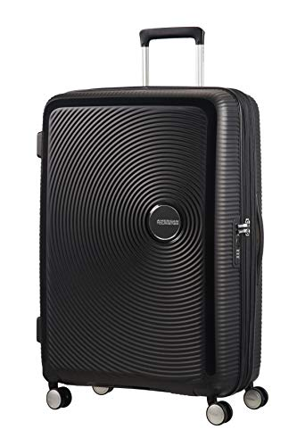 American Tourister Soundbox Spinner Suitcase 77 cm, 110 L, Black (Bass Black)