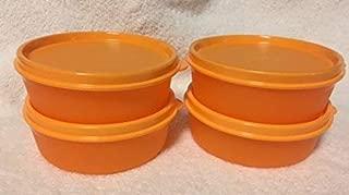 Tupperware LITTLE WONDERS set of 4 Snack Lunch BOWL SET NEW Orange
