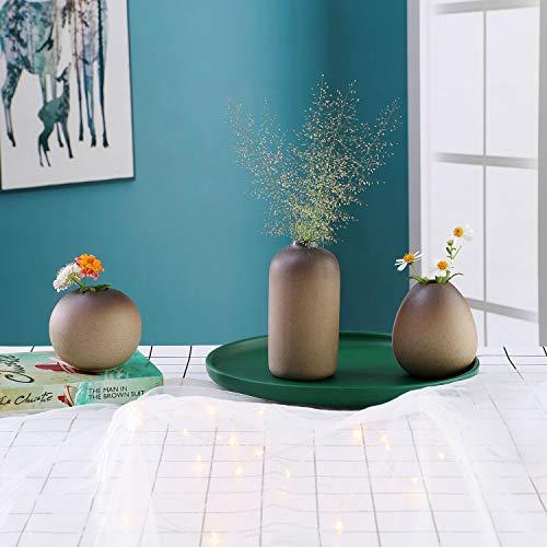 ComSaf8CM陶器花瓶花器一輪挿しフラワーベース水生植物生け花適用部屋飾り3点セット